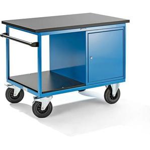 EUROKRAFT Chariot de montage - 1 armoire à droite - plateau en MDF