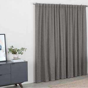 Quintus, paire de rideaux en lin mélangé 168 x 228 cm, gris pierre