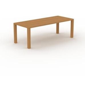 Table en chêne, bois massif, design contemporain, table en bois élégante - 220 x 76 x 90 cm, personnalisable
