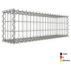 Gabion 100x30x20cm « made in Germany » - mailles rectangulaires 5x10cm - GABIONDECO