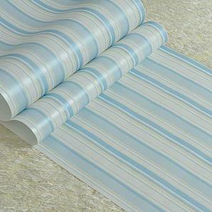 Papier peint intissé à rayures verticales chaleureux chambre détude papier peint de chambre denfant princesse fille et garçon (Color : Blue stripes)