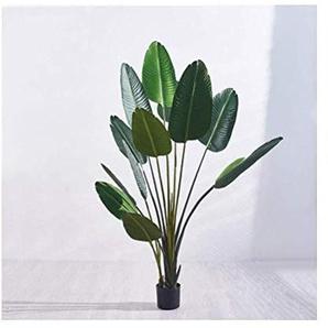 Faux plantes décoration florale Simulation, Salon Intérieur étage Fleur Grande plantation de pot en plastique décoratifs ORNEMENT 144 (Size : I)
