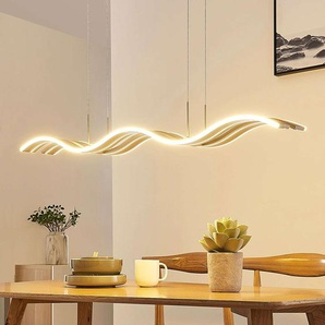 Suspension LED ondulée Rosella, dimmable