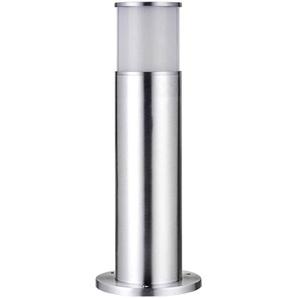 Balise Inox cylindrique H45cm BOLLARDS E27 IP44 éxterieur EASY CONNECT ampoule fournie