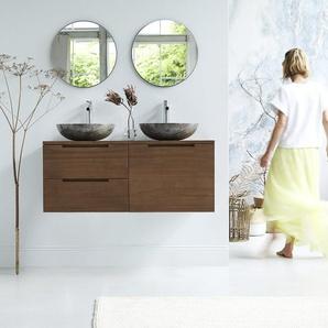 Meuble Salle de bain suspendu en bois de teck 120 Romeo