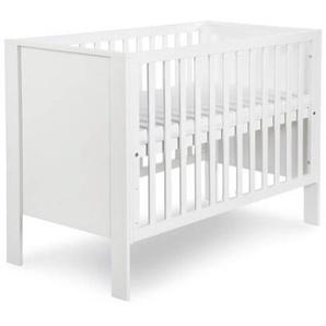 Lit bébé évolutif Leon 120x60 - Blanc