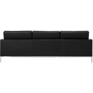 Lounge Knoll 3 Places - Noir