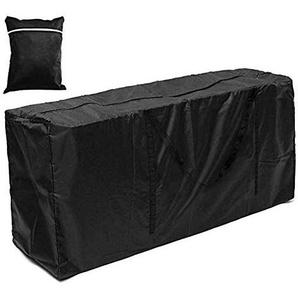 Sunnyshinee Housse rectangulaire imperméable et Respirante en Tissu Oxford pour Table de Patio 122 x 39 x 55 cm 173x76x51cm Noir