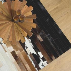 Tapis en dégradé noir et beige 160 x 230 cm DALYAN