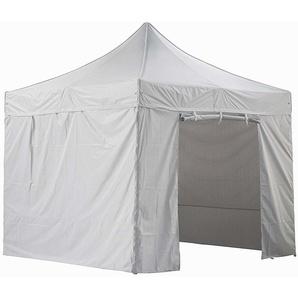 Tente pliante blanche avec 4 murs amovibles 3x3m SUPER - Tube 40mm en aluminium - Bâche 420D - Barnum pliante - GREADEN