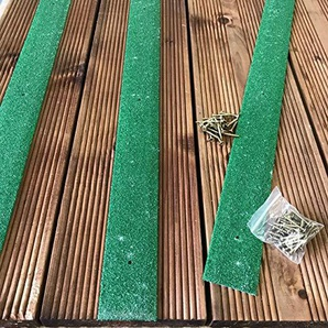 TimberGrip Bandes antidérapantes pour terrasse 1000x 50mm Green