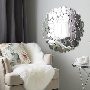 Miroir rond argenté LIMOGES