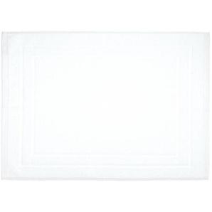 Tapis de bain en coton - 50 x 70 cm - Blanc - AC-DÉCO