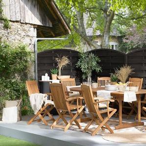 Table et 8 chaises de jardin en bois dacacia MAUI