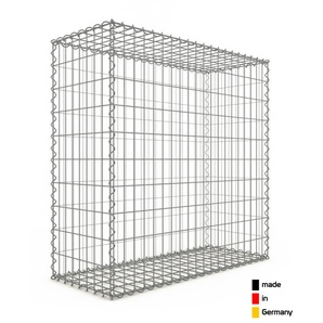 Gabion 100x100x40cm « made in Germany » - mailles rectangulaires 5x10cm - GABIONDECO