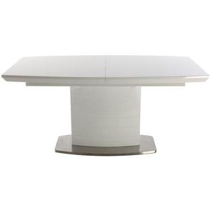 Table à manger design extensible blanc brillant L160-200 cm ERESOS