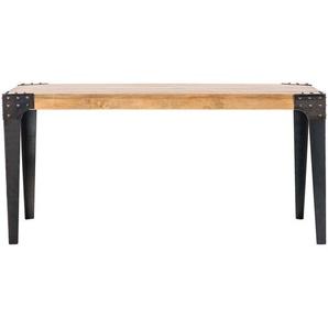 Table à manger industrielle acier et bois L160 cm MADISON