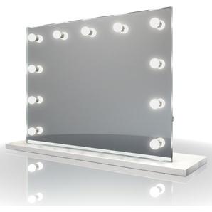 Diamond X Audio Miroir table de maquillage Hollywood Avec ampoules LED k95WWaud - Couleur LED : Ampoules LED blanc chaud - DIAMOND X COLLECTION