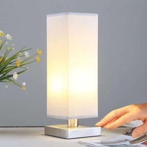 Julina - lampe de chevet en textile gris clair
