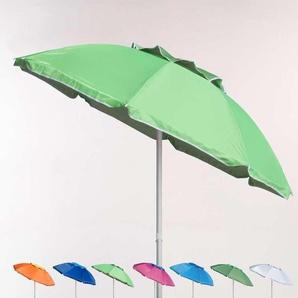 Parasol de plage 200 cm aluminium anti-vent protection UV CORSICA | Vert - BEACHLINE