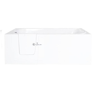 Saniclass Curacao Baignoire à porte M 76x60x150cm polyester porte gauche blanc CURACAO-M LINKS