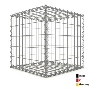Gabion 50x50x50cm « made in Germany » - mailles rectangulaires 5x10cm - GABIONDECO