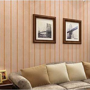 JingBiaoMaoYi Papier peint simple rayé moderne simple de papier peint de papier peint de PVC de magasin de bureau dhôtel (Color : Shallow Caffeine)