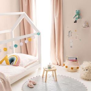 Lytte Tapis lavables pour enfants Tilda Bleu ø 80 cm rond - Tapis pour chambre denfants/bébé