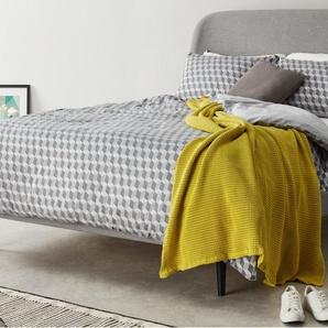 Hayllar, lit king size (160 x 200) avec sommier, gris clair