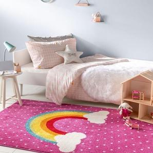 Tapis enfant noa_kids_rainbow Mauve 160x230 cm - Tapis pour chambre denfants/bébé
