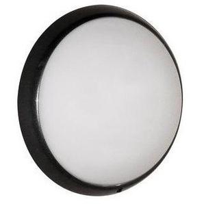 Hublot fluo 13W+13W Ø 300mm anthracite polycarbonate avec lampes G24q-1 4000K ballasts elec CL2 IK10 IP44 ALIUM EBENOID 078327 - LEBENOID