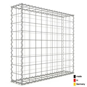 Gabion 100x90x20cm « made in Germany » - mailles carrées 10x10cm - GABIONDECO
