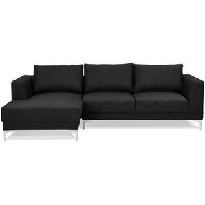 Canapé dangle design MELTING noir avec méridienne (angle à gauche)