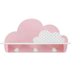 Patère 3 crochets nuage rose