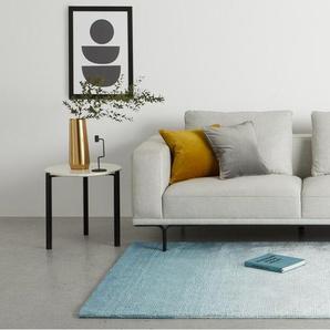 Tazim, grand tapis en viscose 160 x 230 cm, dégradé de bleu canard et turquoise