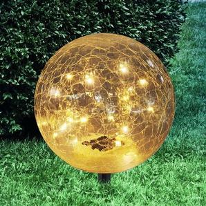 Lampe solaire déco Nurel sphérique 19,5cm