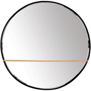 Miroir rond avec plateau en bambou D60cm