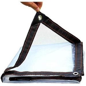 Tente Transparente CHAOYU Bâche Transparent épaississant Liseret Plastique poreux bâche imperméable fenêtre Balcon Culture de Serre Film (Taille : 4x8m)