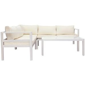 Salon de jardin design blanc avec table basse TONIGHT