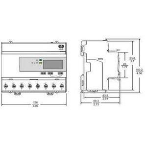 Acti9 iEM - compteur d énergie tri - TI - multitarif - alarme kW - Modbus - MID - A9MEM3255 - SCHNEIDER