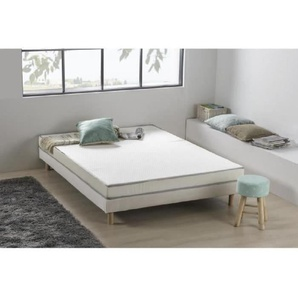 Matelas mousse 140 x 190 - Confort ferme - Epaisseur 12 cm - Livré roulé - DEKO DREAM Kietoa