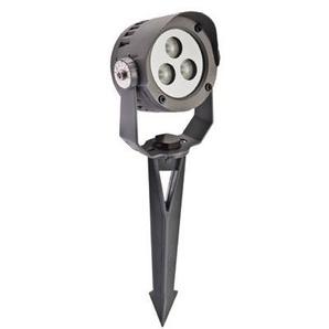 Projecteur extérieur LED 3X2W sur piquet corps alu orientable 3000K 246lm 230V avec câble 0.5m IK07 IP65 CYCLOP 1 SEET 39032 - SEET EUROPOLE
