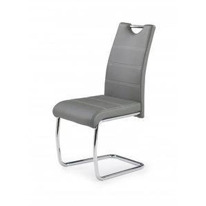 Chaise design simili cuir et acier chromé Jakarta