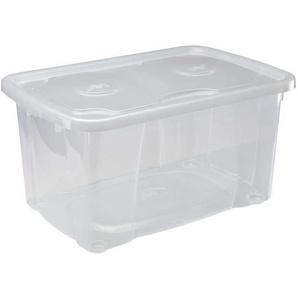 M-HOME SIMPLYBOX Boîte de rangement à Couvercle 44L transparent
