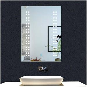 OCEAN Miroir de salle de bain 50x39cm miroir mural avec éclairage LED modèle Rain 1.5 - OCEAN SANITAIRE