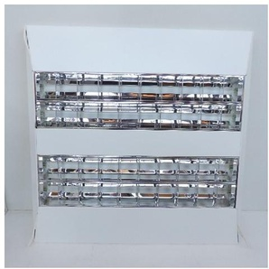 Plafonnier saillie 4X24W blanc 625X625mm pour tube fluo T5 (non incl) ballast elec HF 230V IK07 IP20 AIRONE TRAJECTOIRE 542900