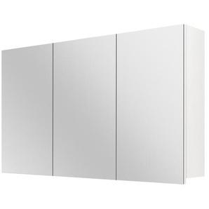 Differnz Armoire de toilette 100x60x15cm 3 portes avec miroir MDF blanc 36.704.10