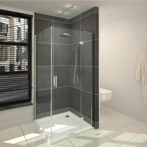 Saniclass Cansano Cabine de douche carrée avec 1 porte pivotante 80x80x198.5cm avec receveur de douche 3.5cm verre transparent SW24213