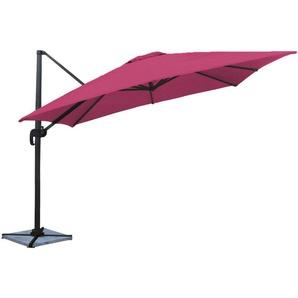 Parasol déporté MOLOKAI carré 3x3m fuchsia - HAPPY GARDEN