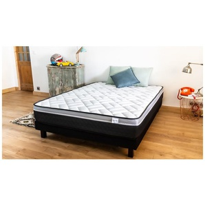 Ensemble matelas mémoire + sommier 160x200 Ergo Gelfresh Hbedding - Mousse visco et mousse confort